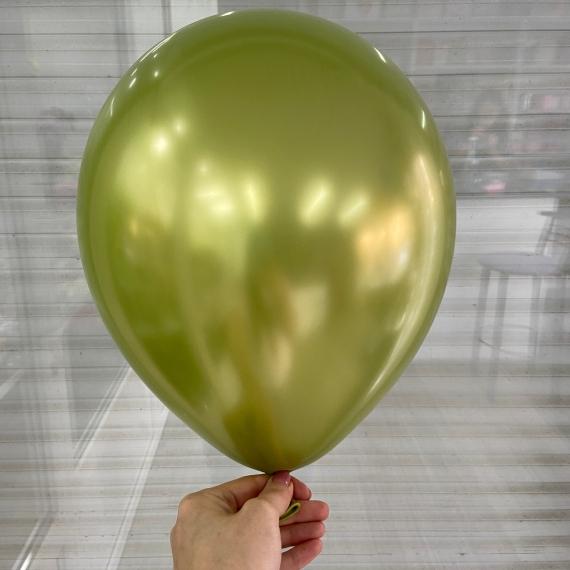 "Шар Хром ""Лайм"" (30 см)"